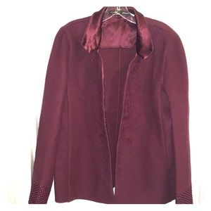Linda Allard Ellen Tracy open front Blazer Jacket